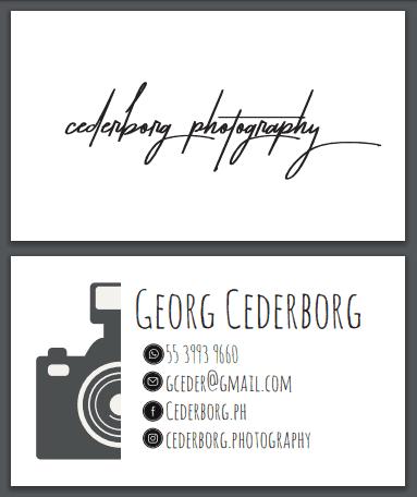 tarjeta de presentacion por ambos lados