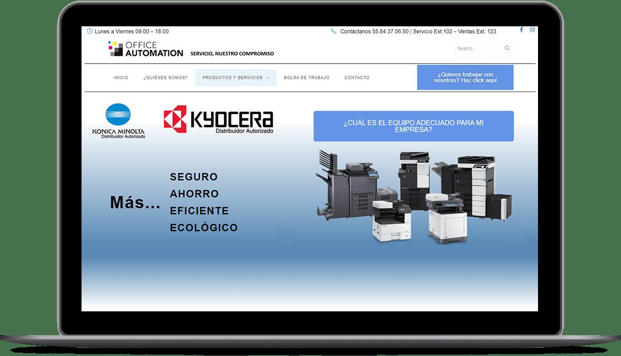 pagina diseñada por agencia de diseño web