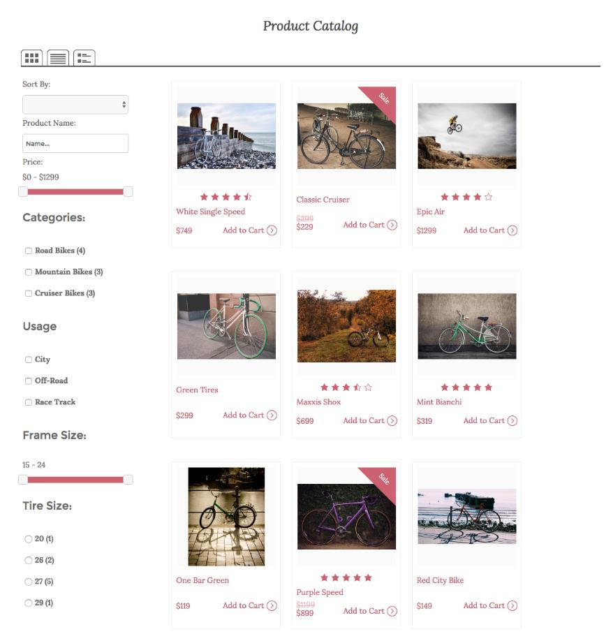 diseño de catalogo de productos en linea