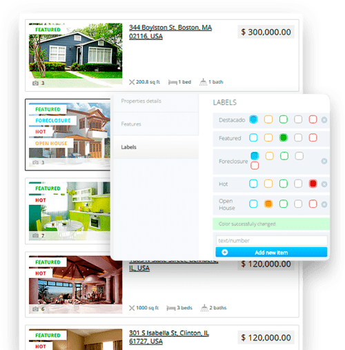 etiquetas para sitio web de inmobiliaria