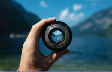 imagen de un lente en servicios de fotografia